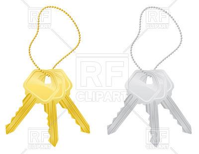 400x311 Set Of Modern Door Lock Keys On Rope