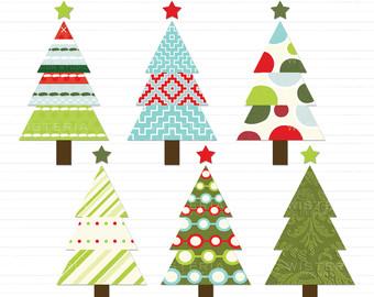 340x270 Christmas Tree Clipart Rustic