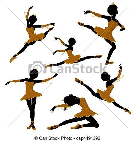 450x470 African American Ballerina Illustra. African American Clip Art