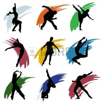 349x350 Contemporary Dance Motion People Clipart