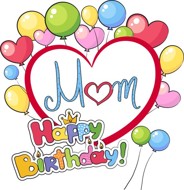 Mom Birthday Clipart