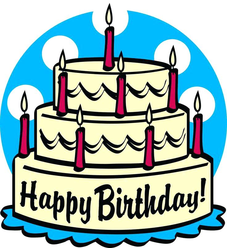 736x804 Happy Birthday Cake Clipart Best Happy Birthday Wishes