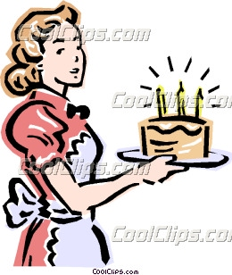 260x308 Mom And Birthday Cake Clip Art