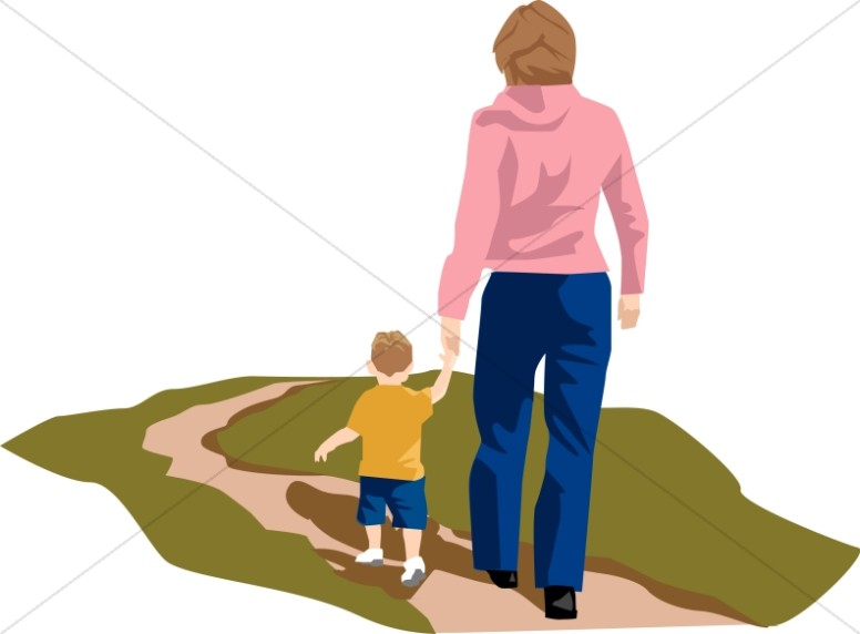 776x572 Mother And Child Walking Mother's Day Clipart