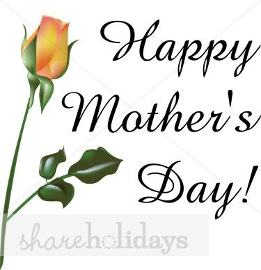 375x388 Happy Mother's Day Clip Art Black And White Pastel Bouquet