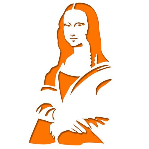 500x500 Mona Lisa Portraits, Stenciling And Silhouettes