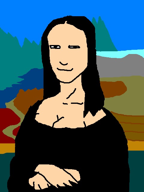 480x640 Mona Lisa Clipart Lukisan