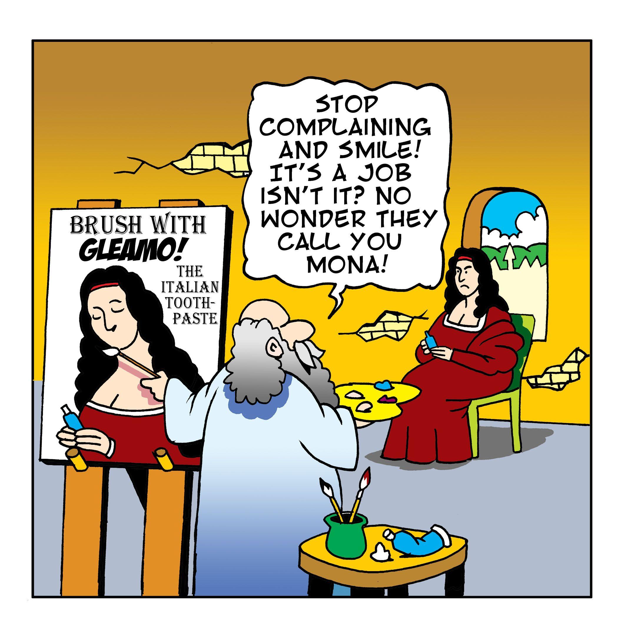2100x2172 Mona Lisa Cartooned