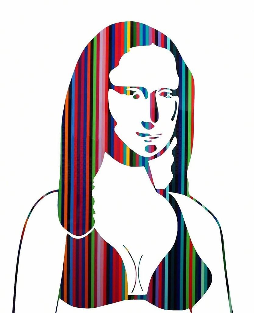 834x1024 Neno Ramos Mona Lisa Rainbow Available For Sale Artsy