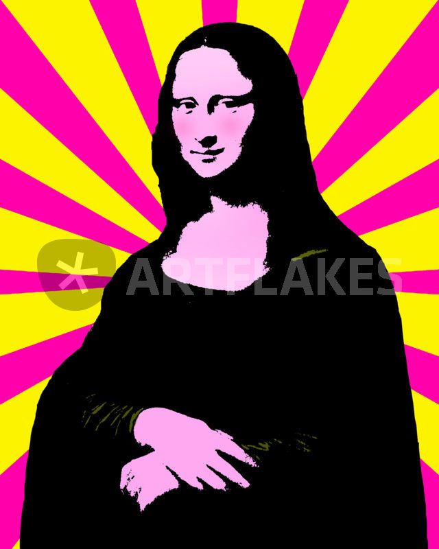 640x800 Pop Art Mona Lisa Graphicillustration Art Prints And Posters By