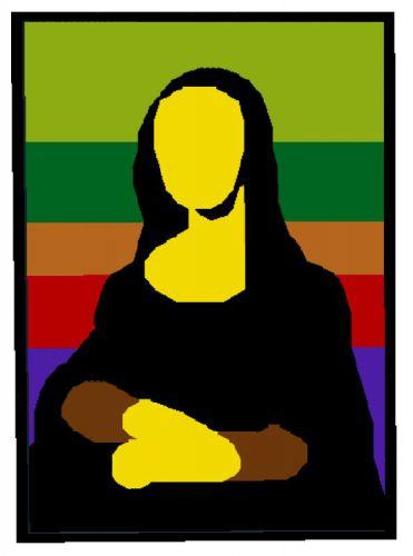 371x500 Mona Lisa. Minimalist Version Of The Leonardo Da Vinci Painting