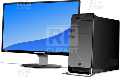 400x257 Flat Lcd Monitor With System Unit