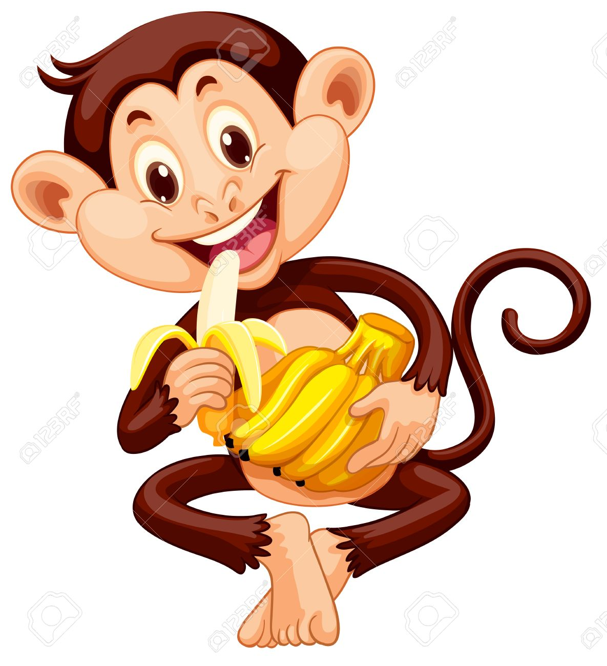 1185x1300 Clipart Eat Banana Monkey With Clipground