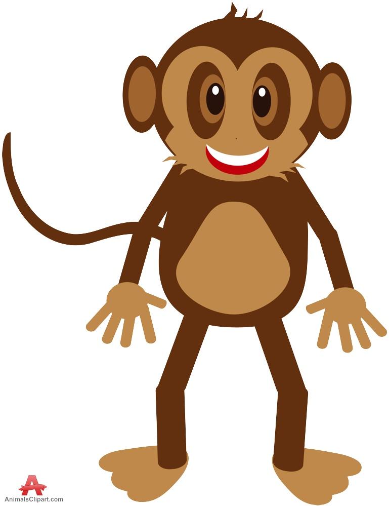 769x999 Happy Monkey Clipart