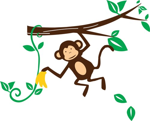 500x405 Image Of Baby Monkey Clipart