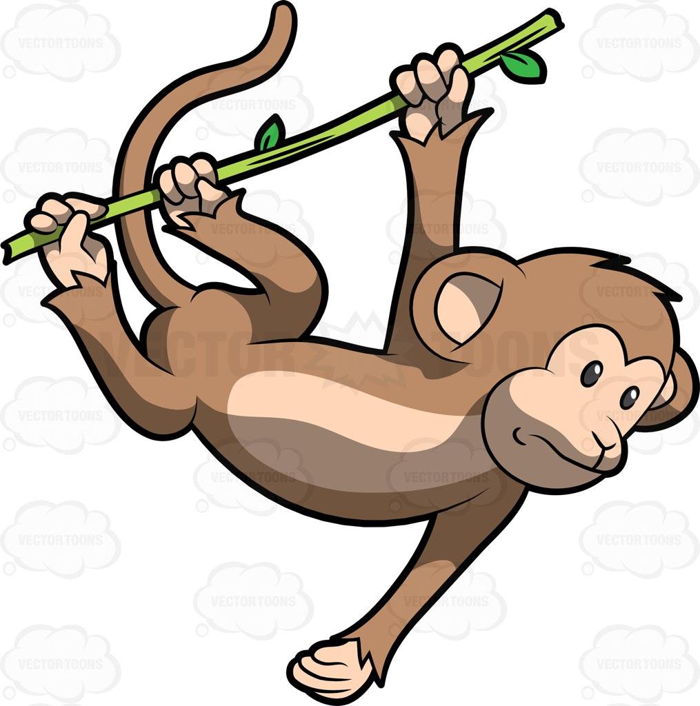 1015x1024 Monkey In A Tree Clipart