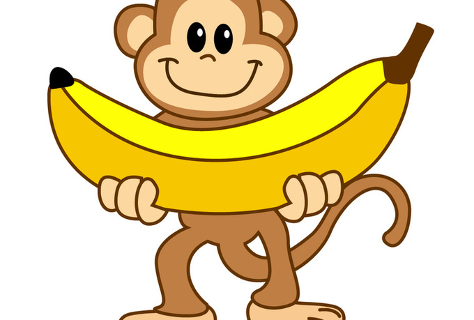680x459 Collection Of Monkey With Banana Clipart High Quality, Free