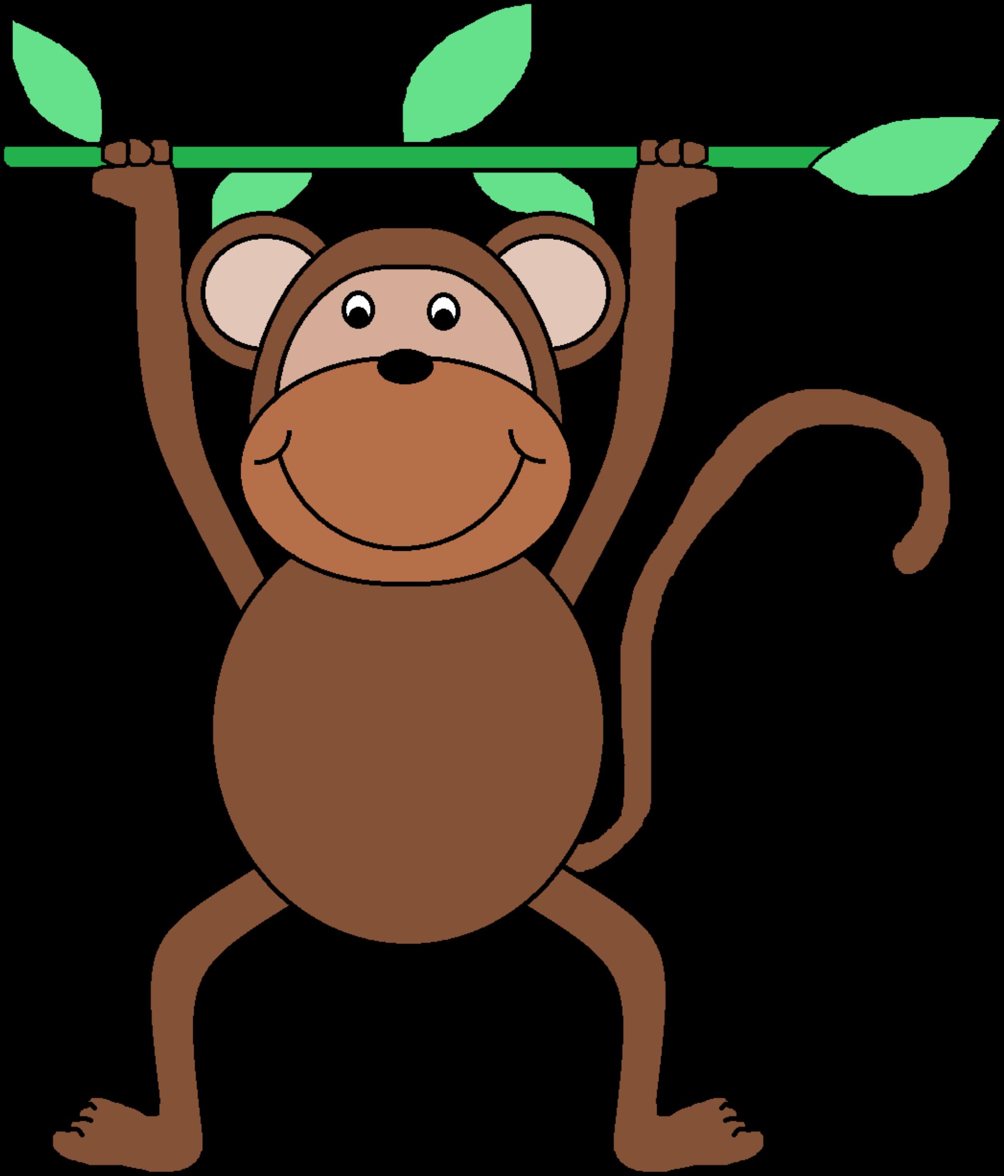 2011x2357 Bold And Modern Clip Art Monkey Clipart Zekie A 1st Birthday