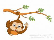 220x165 Cartoon Monkeys Clipart Cute Funny Cartoon Ba Monkey Clip Art