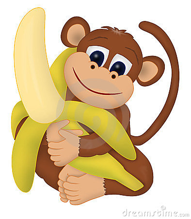 394x450 Monkey Clipart Monkey Banana Clipart Free collection Download