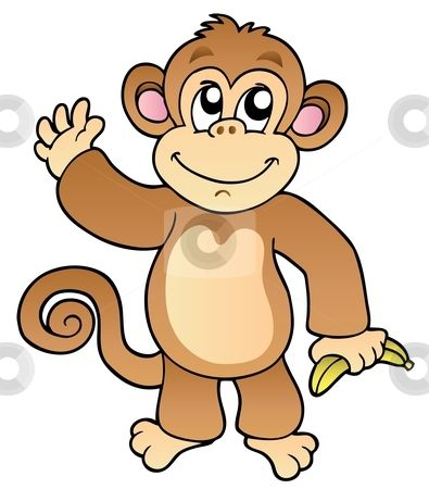 395x450 Monkey clip art School Ideas Pinterest Free monkey, Clip art