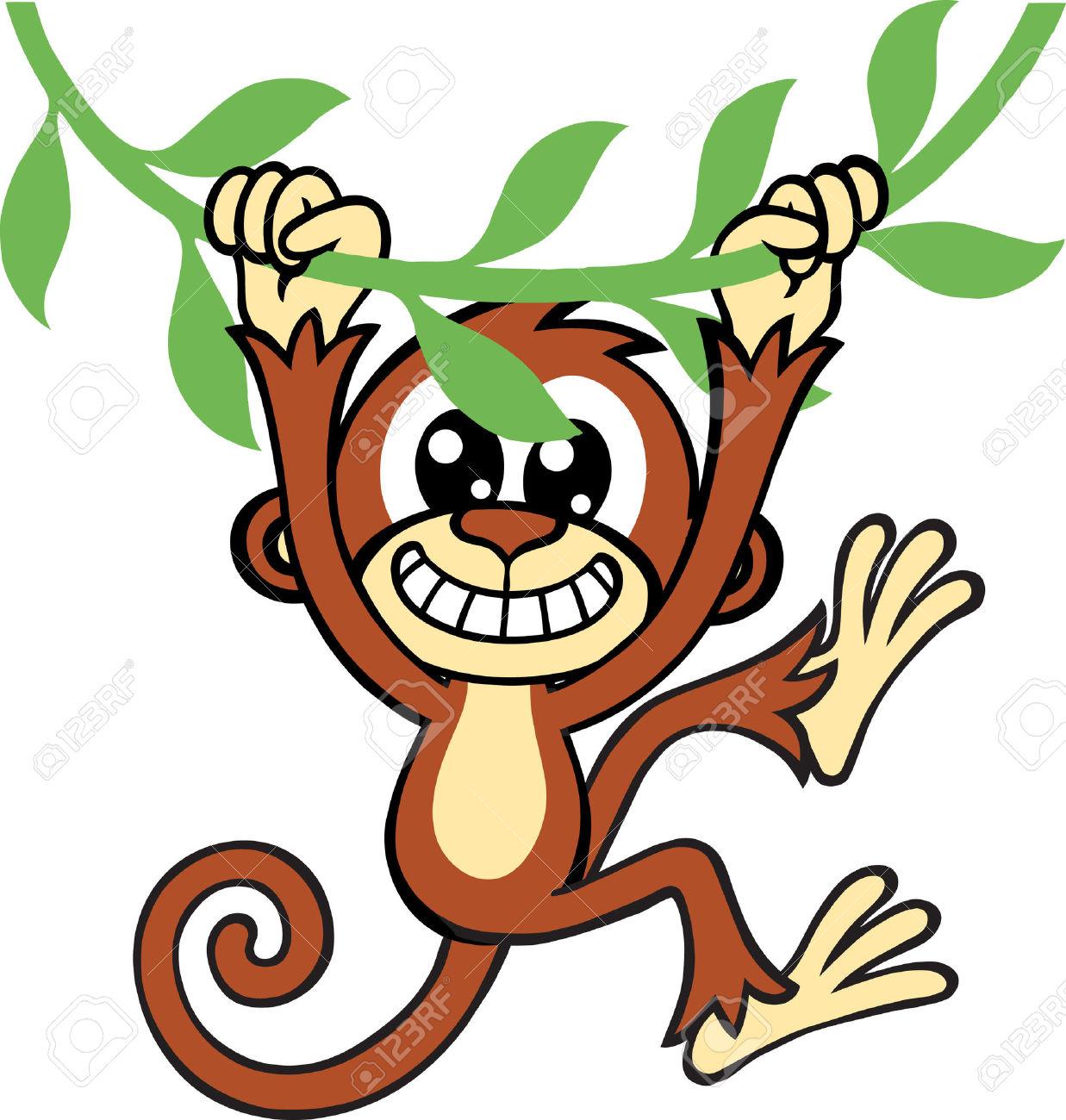 1237x1300 Monkey jungle clipart