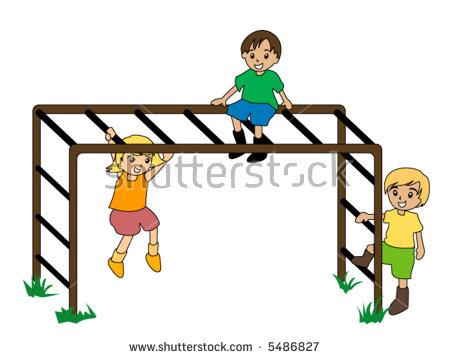 450x359 monkey bars clipart stock vector kids on monkey bar vector 5486827