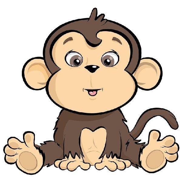 600x600 monkey sitting in a bucket cartoon Cartoon Monkeys