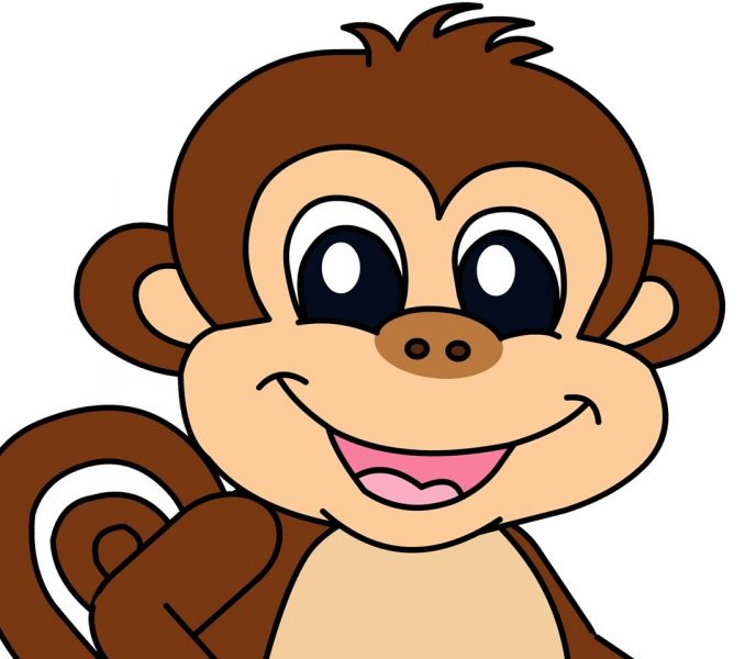678x600 Cartoon Monkey Pictures For Kids Kids Coloring