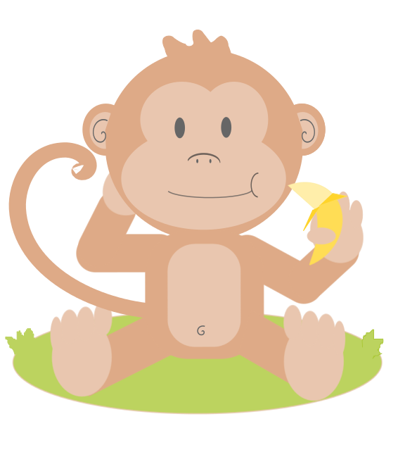 566x639 Image of Cute Monkey Clipart