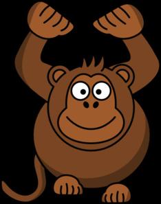 234x297 Monkey Hands Up Step 1 Clip Art