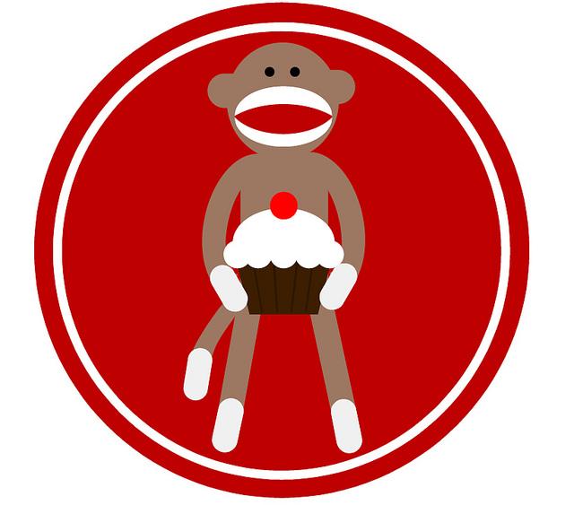640x563 Plain Design Monkey Cupcakes Clip Art Mod Cupcake Toppers