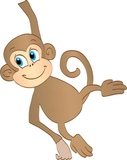 517x649 Upside Down Hanging Monkey Clipart