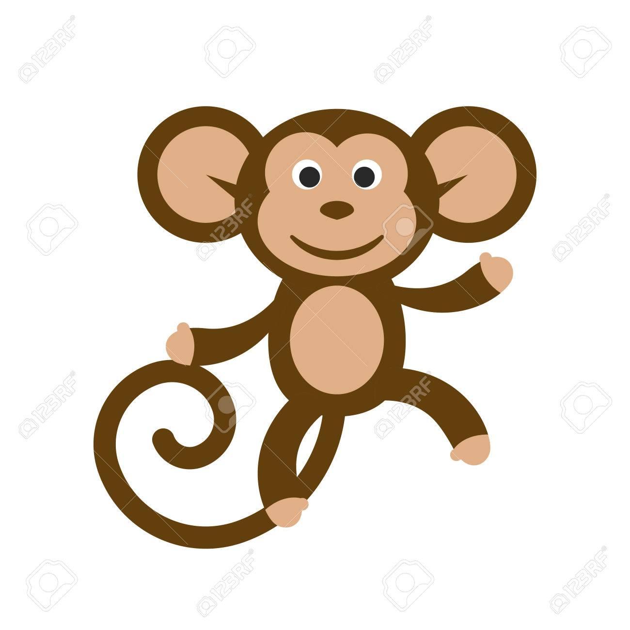1300x1300 Cartoon Monkey Clipart 66244846 Happy Cartoon Monkey Vector