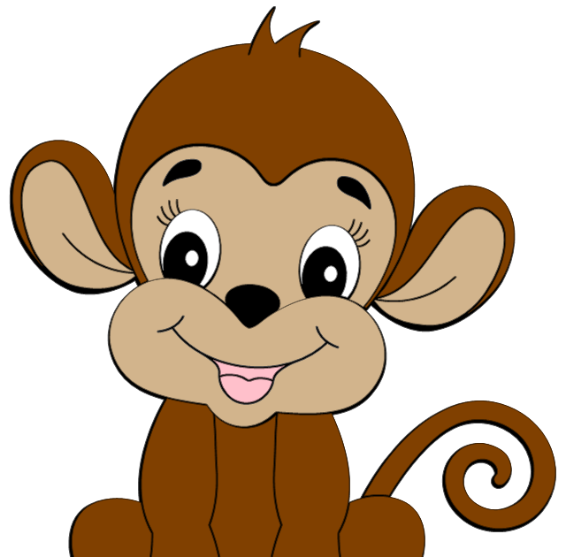 640x630 cute monkey clip art cute monkey clipart is credited to colorful