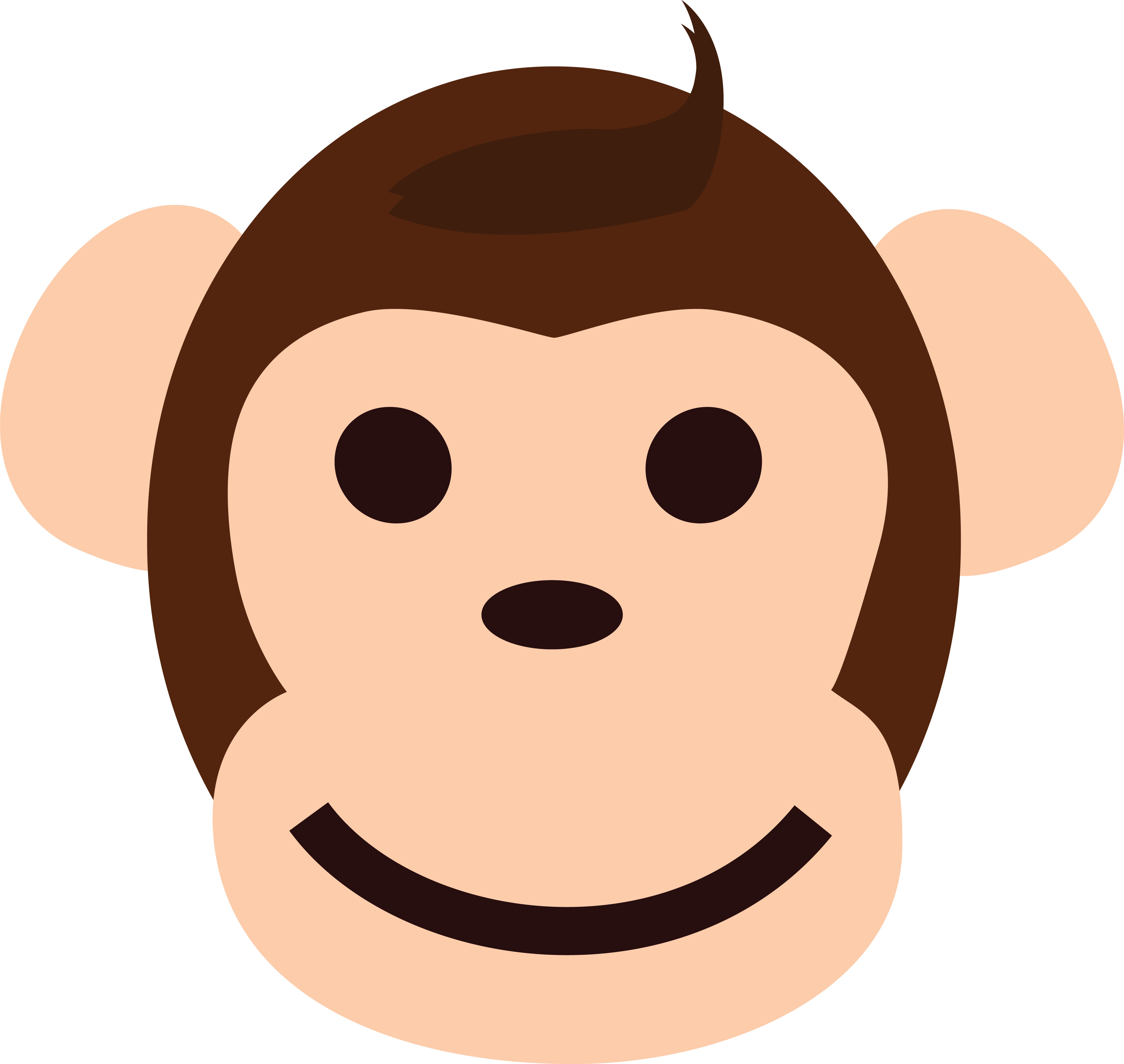 4000x3786 Free Clipart Of A Happy Monkey Face