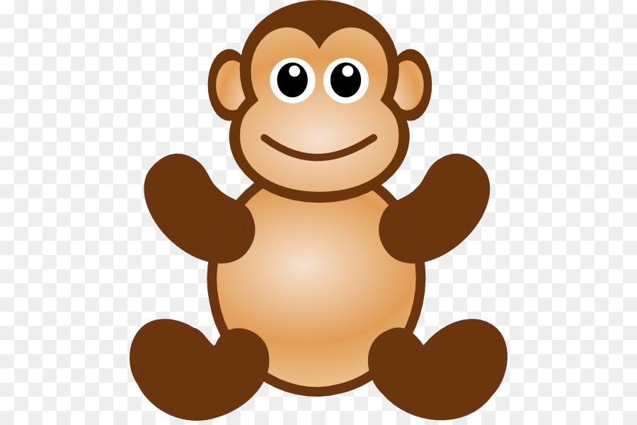 900x600 Ape Macaque Monkey Cartoon Clip Art