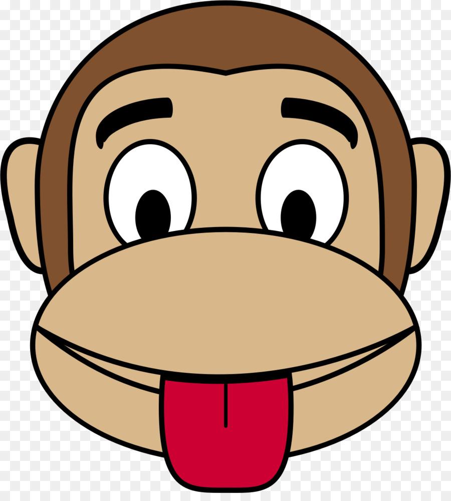 900x1000 Monkey Face Cartoon Clip Art