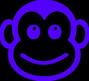 298x270 Monkey Face Clip Art