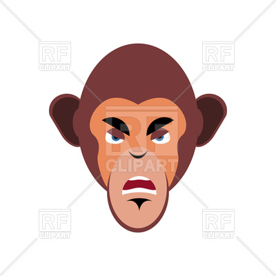400x400 Monkey Angry Emoji Royalty Free Vector Clip Art Image