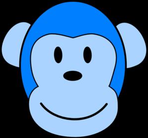 299x279 Very Blue Monkey Clip Art