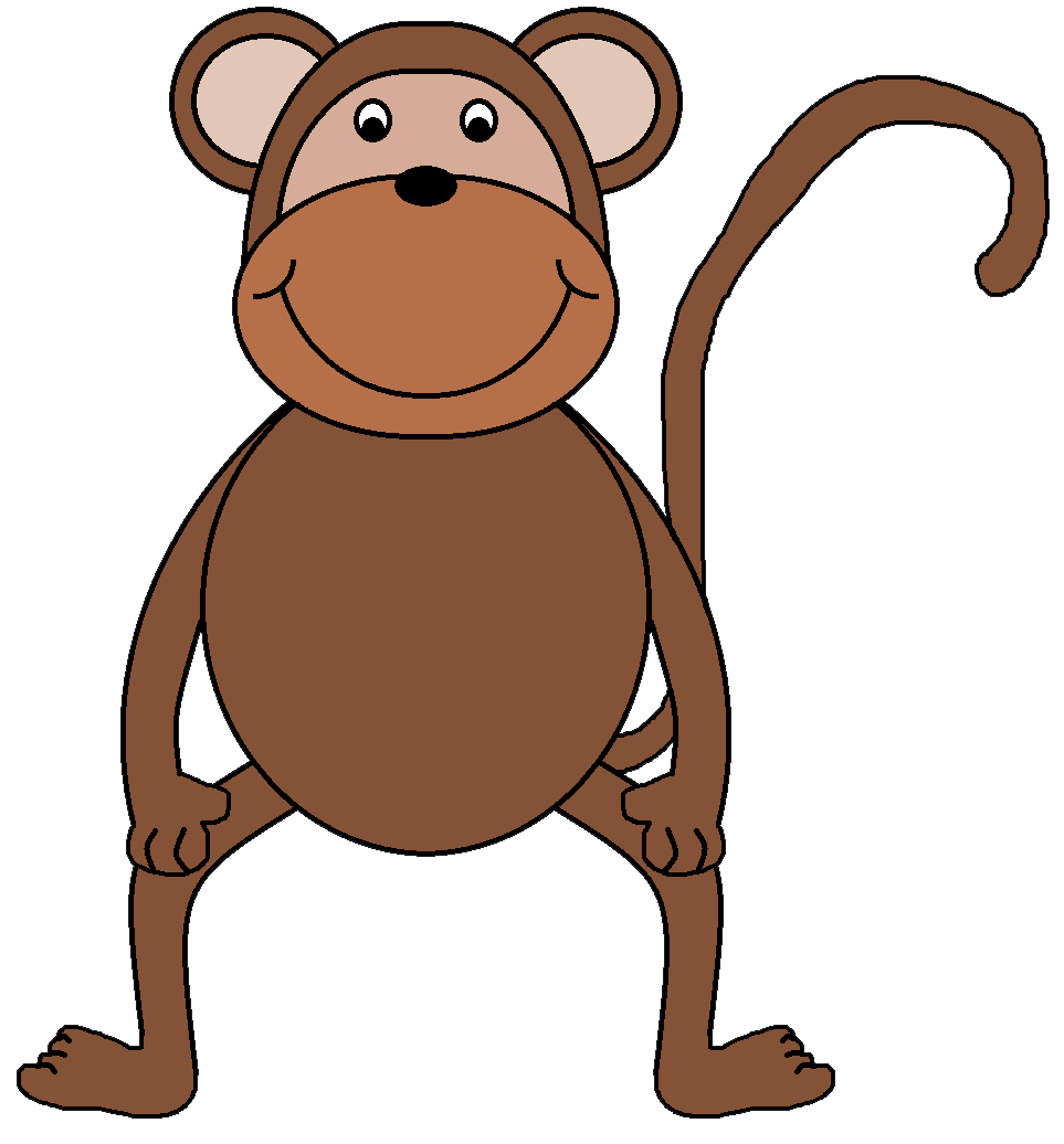 963x1036 Year Of The Monkey Clipart Brown Monkey