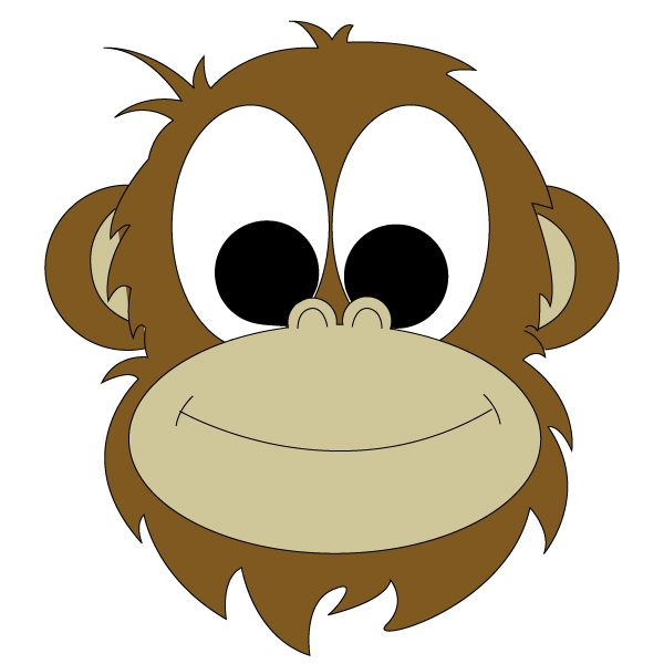 600x600 Monkey Face Drawing Monkey Face Drawing Clipart Best Animals