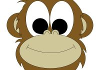 200x140 Monkey Face Drawing Monkeys Drawings Bongo Monkey Coloring Drawing