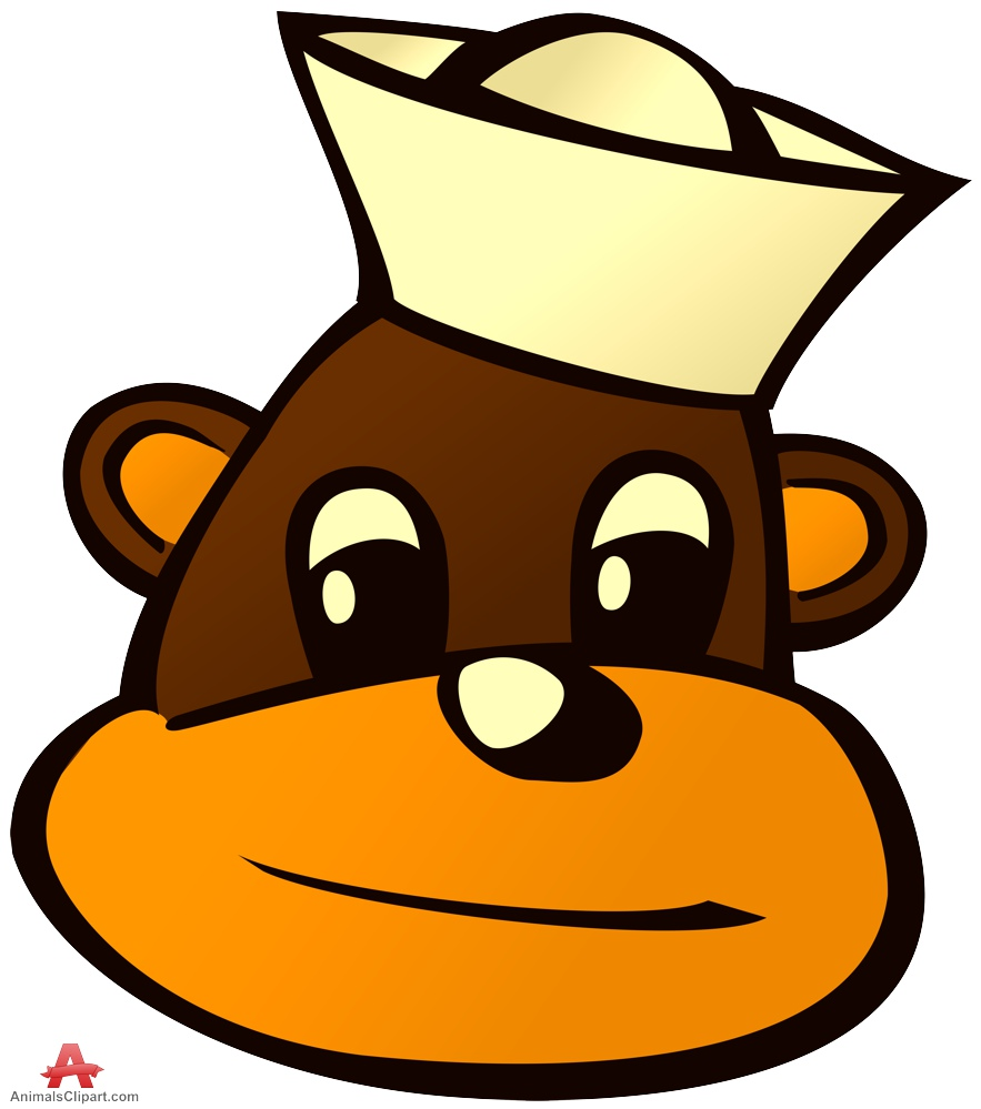 883x999 Cartoon Monkey Head With Small Hat Free Clipart Design Download