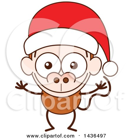 450x470 Cartoon Of A Grinning Ugly Monkey Face