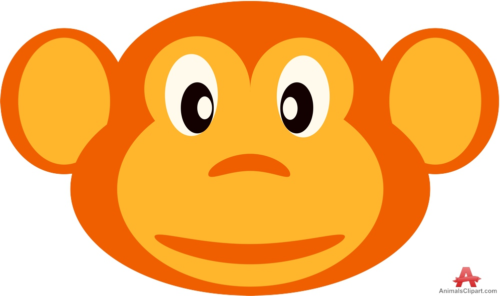 999x593 Monkey clipart coloring page –