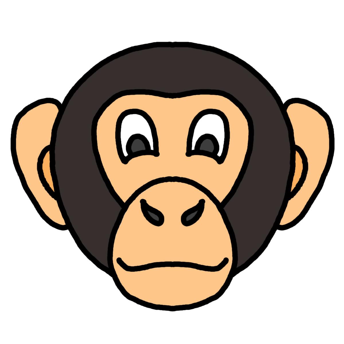 1200x1200 Monkey Face Clip Art Clipartfest 2