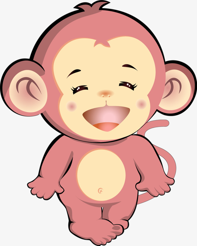 641x800 Pink Monkey, Pink, Xiaohe, Little Monkey PNG Image and Clipart for