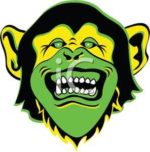 296x300 A Scary Green Halloween Monkey